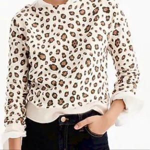 J. Crew Leopard sweatshirt